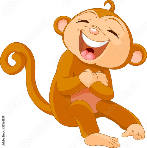 Laughing  monkey Canvas Print
