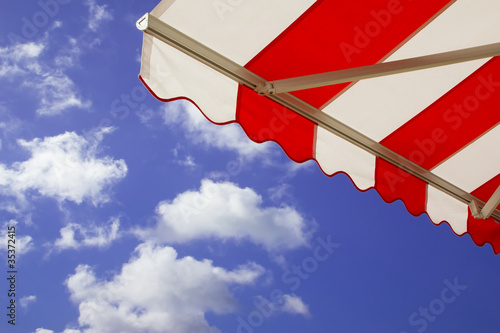 Fotografie, Obraz  Awning over bright sunny blue sky