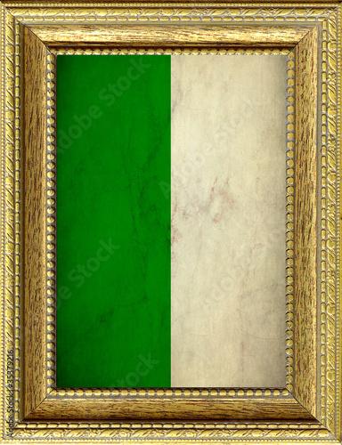Foto op Canvas Algerije Bandiera dell'Algeria incorniciata