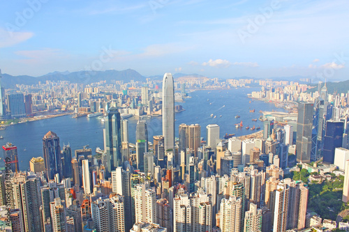 Tuinposter Hong Kong view from the peak