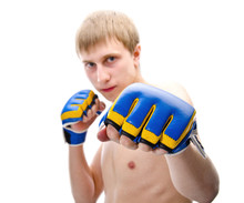 Portrait Of Young Boxer Man Ov...