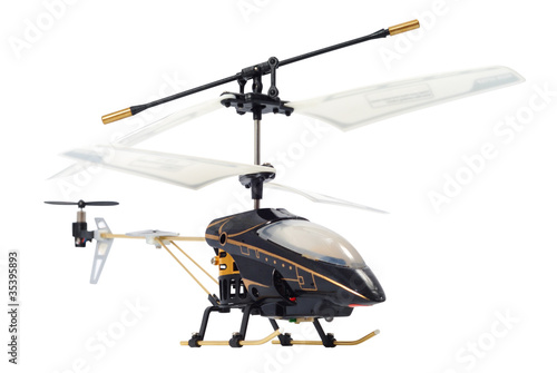 Tuinposter Helicopter Toy Helicopter