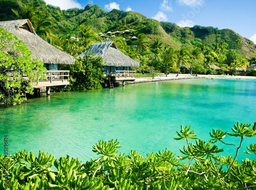 domki-nad-woda-przy-zielonej-lagunie-na-tropikalnej-wyspie
