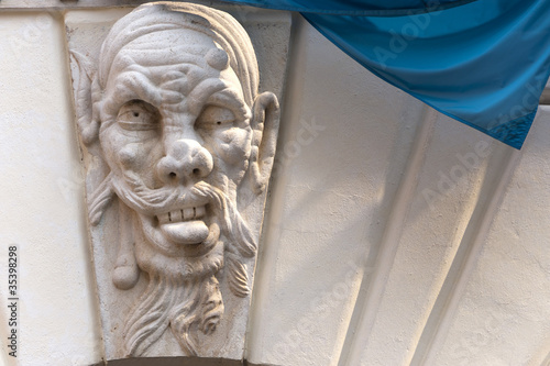 Photo Brescia (Lombardy, Italy), Historic building, detail: grotesque