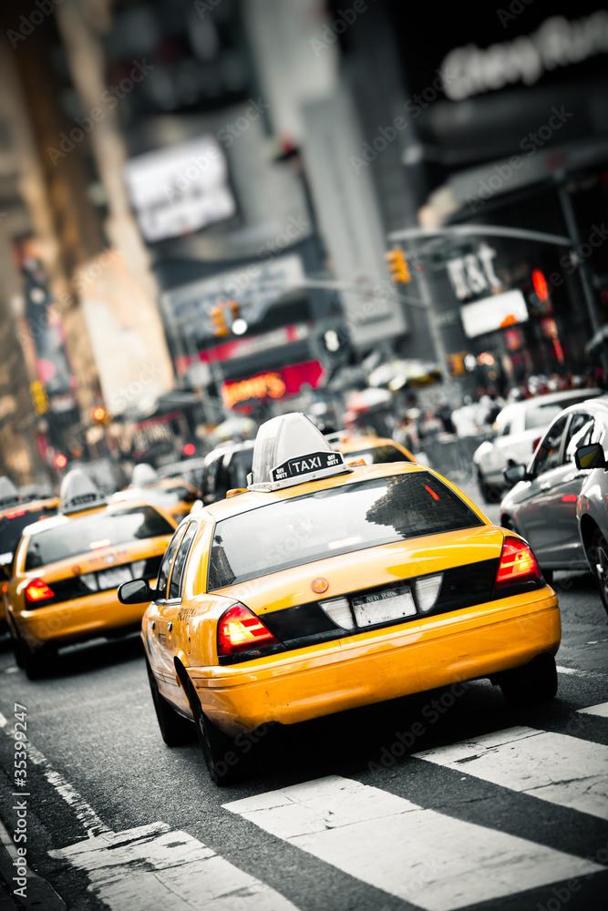 Fototapety, obrazy: Taksówki w Nowym Jorku