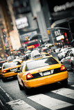 Fototapeta New York - New York taxis