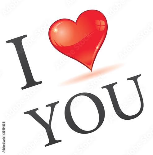 Photo rébus : i love you - je t'aime