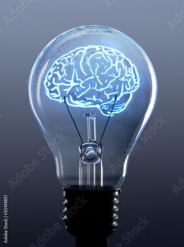 Bombilla y cerebro
