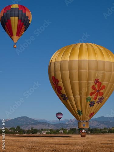 In de dag Ballon Hot Air Ballons