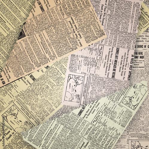 Fotobehang Kranten old newspaper background