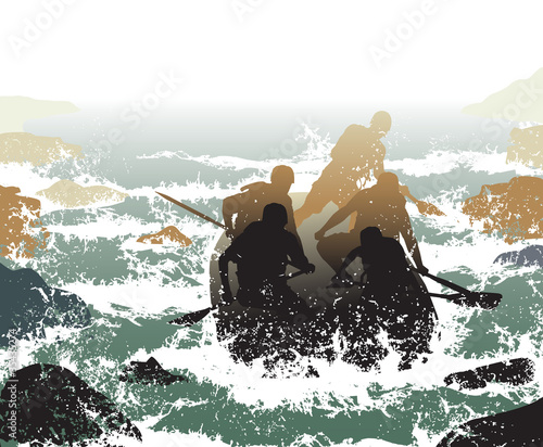 Whitewater rafting Wall mural