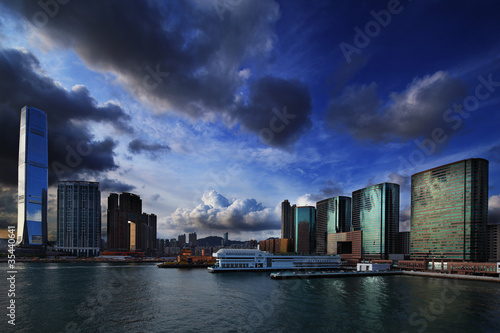 Photo  Harbour of Tsim Sha Tsui Hong Kong