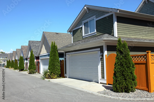 Photo  Residences in Richmond BC Canada.