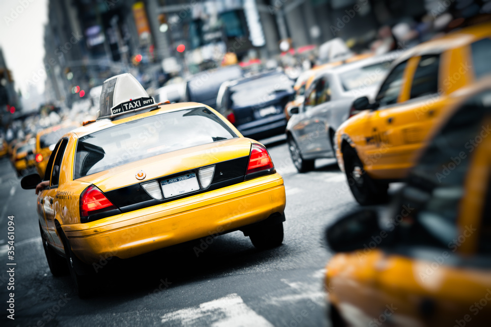 Fototapety, obrazy: New York taxis