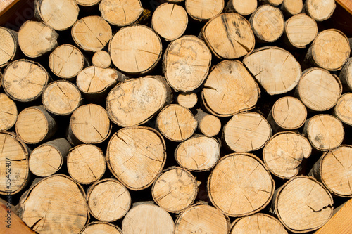 Türaufkleber Holz Firewood