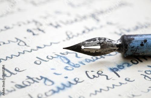 Papiers peints Retro Old pen and letter