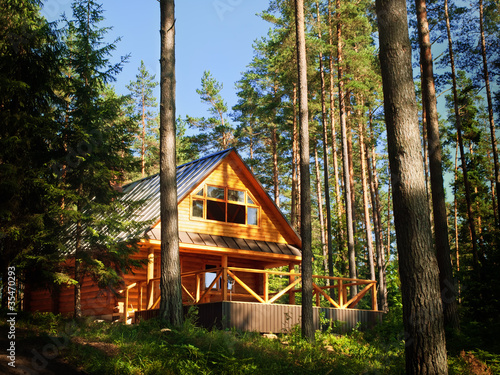 Photo  log House in the forest