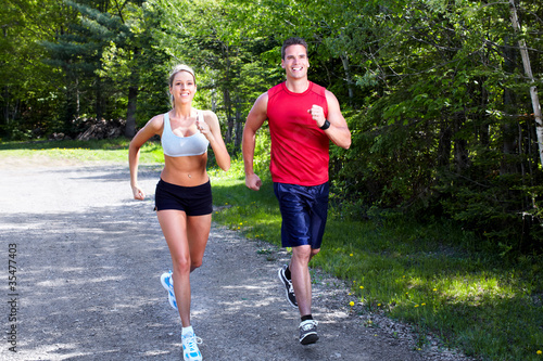 Foto op Canvas Jogging Jogging couple.