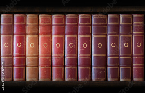 Poster Bibliotheque Vintage books