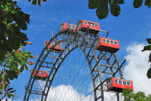 Foto op Aluminium Wenen Riesenrad auf dem Wiener Prater 108