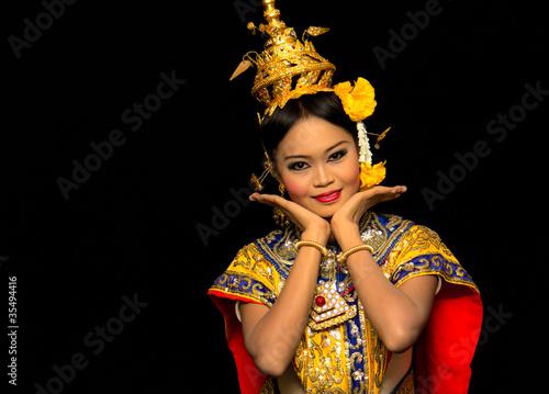 Foto  Klassischer thailändischer Tanz