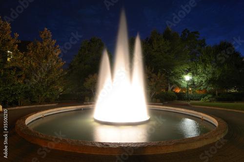 Autocollant pour porte Fontaine Night Fountain