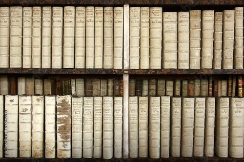 Poster Bibliotheque altes Bücherregal