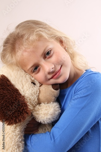 Fototapeta Roxana mit Teddy 2 obraz na płótnie
