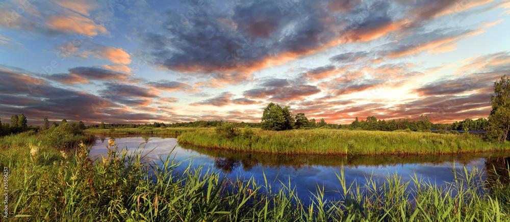 Decline over the river Berezina, Belarus