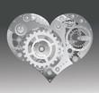 Mechanical heart. Vector illustration.