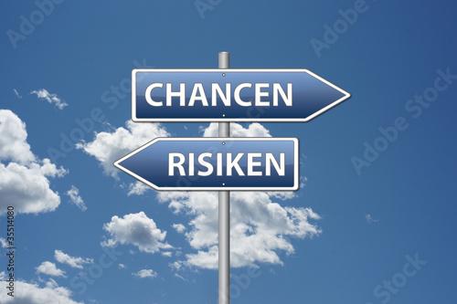 Fotografie, Obraz  Chancen Risiken
