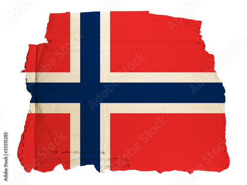 Photo  Antica Bandiera Norvegia su Cartone