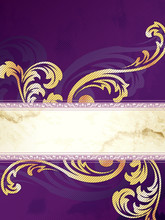 Gold And Purple Vertical Victo...