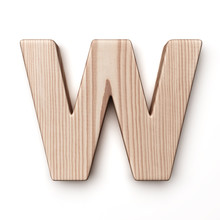 The Letter W In Wood
