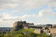 Edinburgh Castle, Scotland, From The South East.