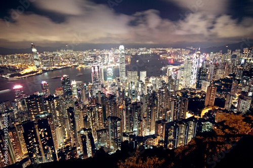 Photo  Hong Kong at night