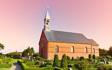 Minimalistic Danish Church In Mosevraa