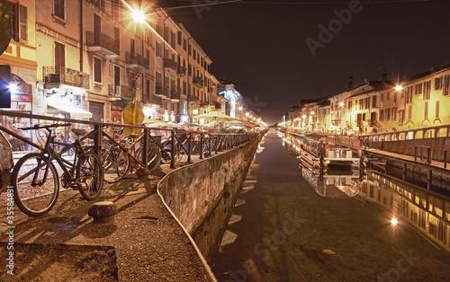 In de dag Milan Milano di notte.....HDR Naviglio