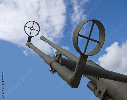 Heavy Artllery Gun For Battle Defence Canvas Print
