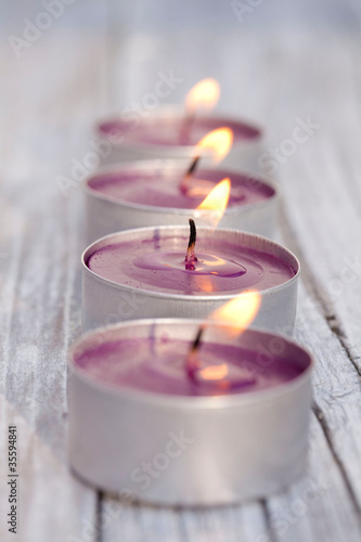 Doppelrollo mit Motiv - Kerzenlicht
