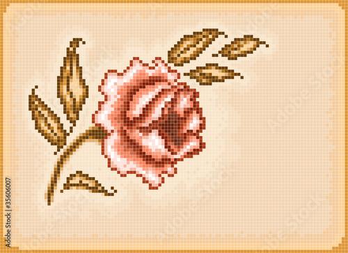 Foto op Aluminium Pixel Floral pixel background