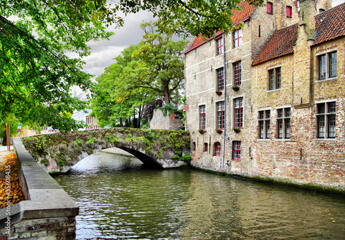 Keuken foto achterwand Brugge Canal in Bruges