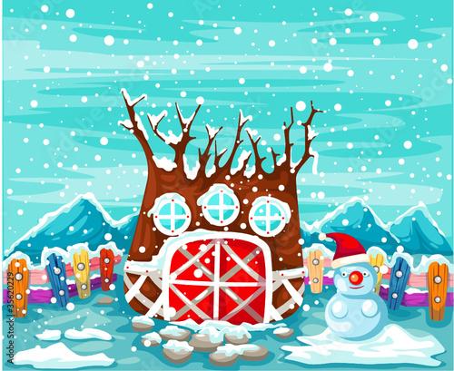 domek-na-drzewie-w-sezonie-zimowym
