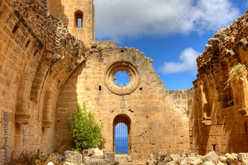 Historic Bellapais Abbey in Kyrenia, Northern Cyprus.