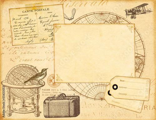 Foto op Plexiglas Retro Lettre de voyage