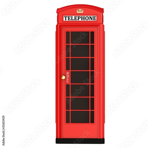 Fotografie, Obraz  The British red phone booth