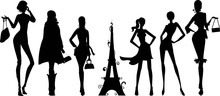 Silhouettes De Femmes Parisien...