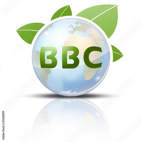 Photo  Symbole glossy vectoriel planète Terre BBC