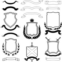 Vector Coats Of Arms, Wreaths ...