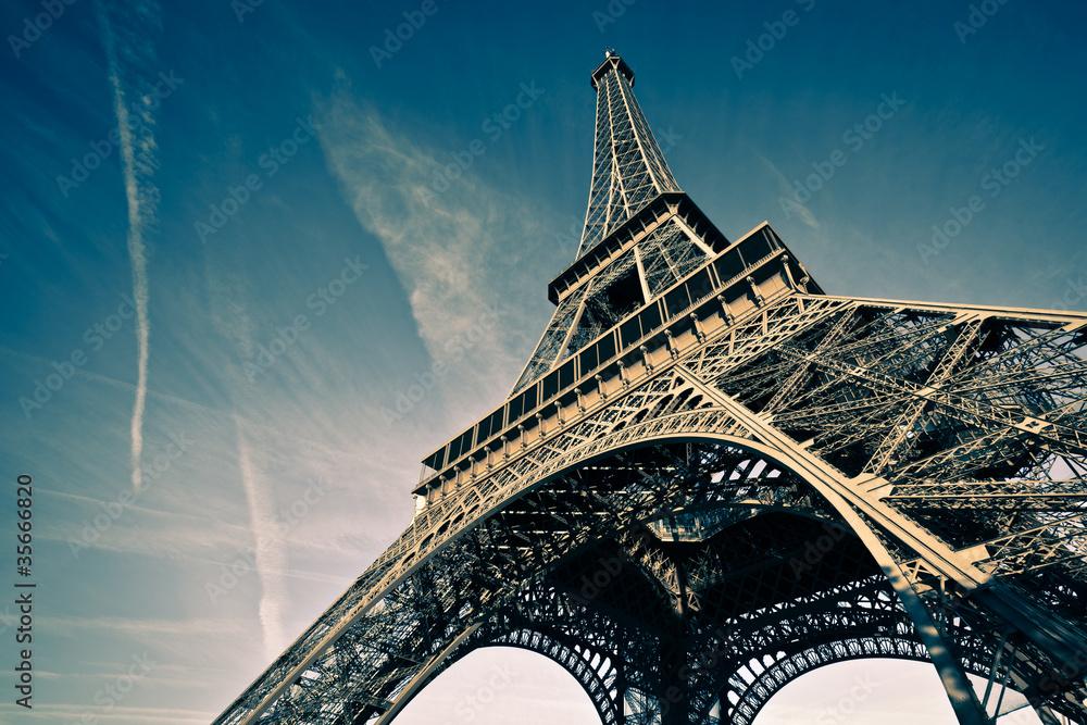 Fototapeta Wieża Eiffla Paryż Francja - obraz na płótnie